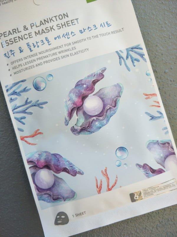 Máscara facial de Plankton e Pérola