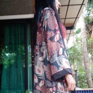 Kimono Penas de Pavão