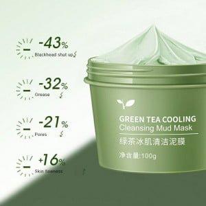 Máscara de Limpeza de Lama de Chá Verde